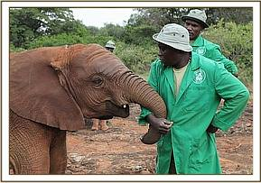Ishanga with her Keeper