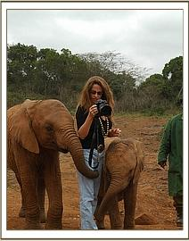 Angela Sheldrick with Lualeni & Makena