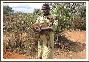The baby Kudu with a DSWT keeper
