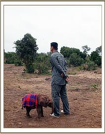 Yao Ming with Kinango