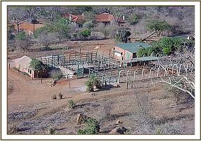 Aerial view of Voi stockade