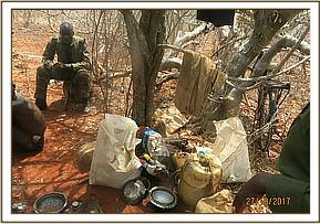 Poachers hideout at Umbi area