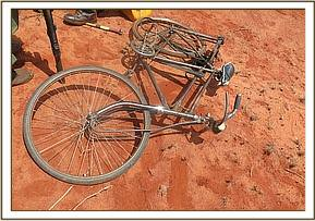 Bicycle left behind by fleeing poachers