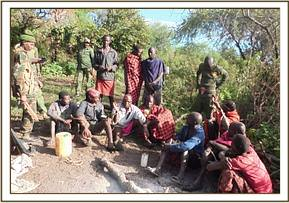 Arrested Masai herds men on Chyulu hills
