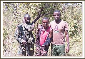 Arrested bushmeat poachers