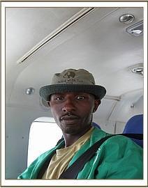 Ein Keeper im Flugzeug