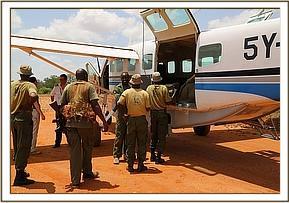 Am Rettungsflugzeug
