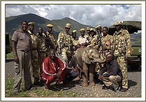 The KWS men involved in the rescue