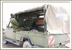 KWS arrive with the calf in the back of the landcruiser.jpg