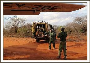 Ukame having been rescued and taken to the airstrip