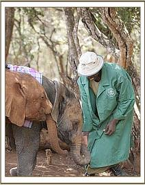 Kenia getting to know the Keepers