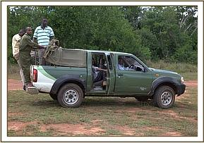 The KWS vehicle that rescued the orphan